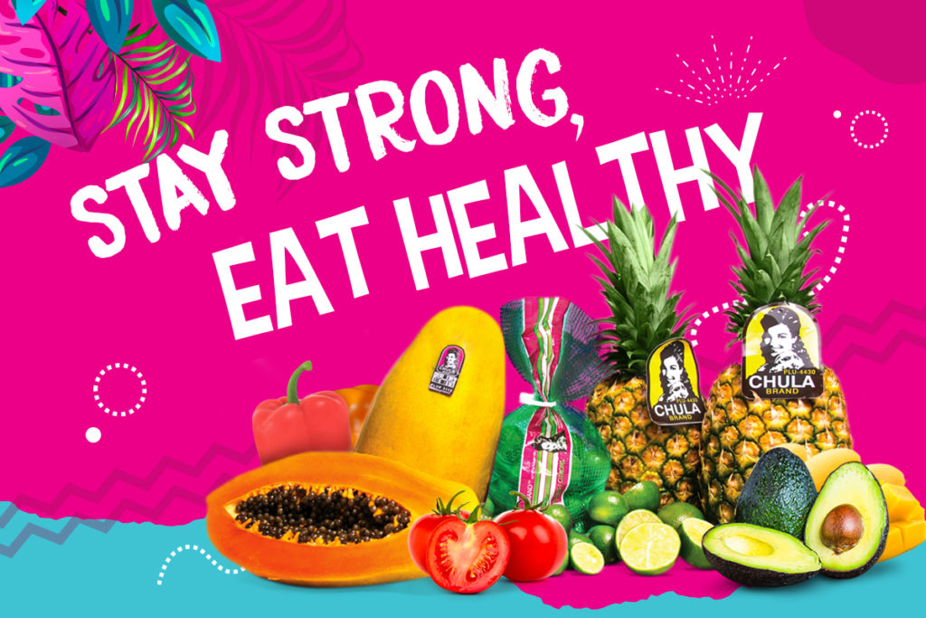 Banner Stay Strong, Eat Healthy